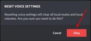 Ok reset voice settings